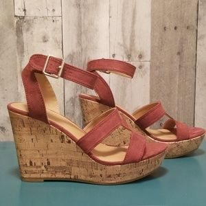 ⭐HP⭐ NWB Cork Wedges with ankle strap